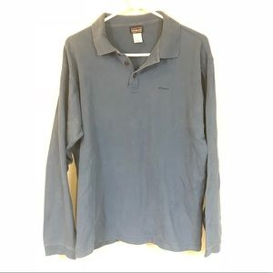 PATAGONIA BLUE LONG SLEEVE POLO TOP SIZE SMALL
